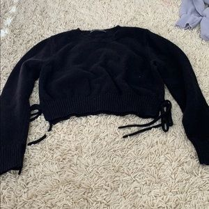 brandy melville cropped sweater with ties